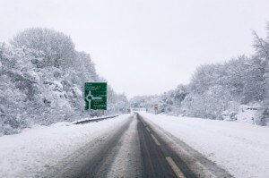 A31 covered in snow